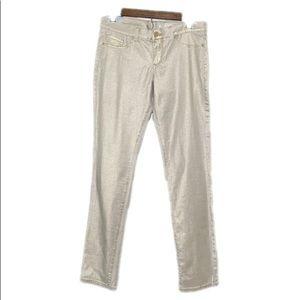 NY & Co Gold Skinny Stretch Jeans NWT 6